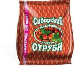 Сибирские отруби с шиповником, 200г