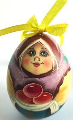"""Яйцо деревянное, расписное """"Мордашки"""""""