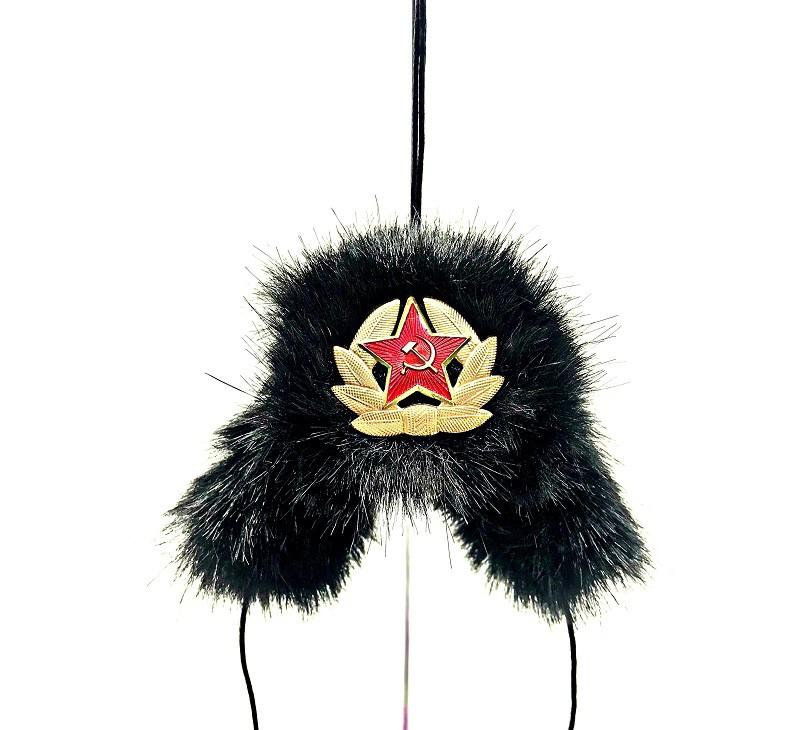 Шапка -ушанка магнит-подвеска, черная