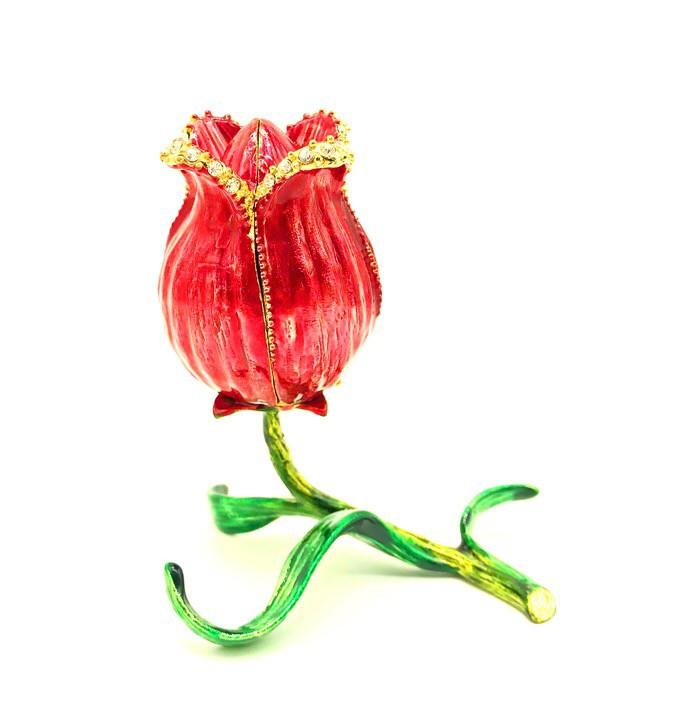 Роза шкатулка Фаберже 11*11 см.