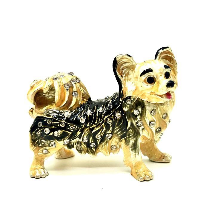 Собака шкатулка Фаберже, 5*6 см