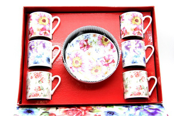 Набор чайный 6 чашек + 6 блюдец