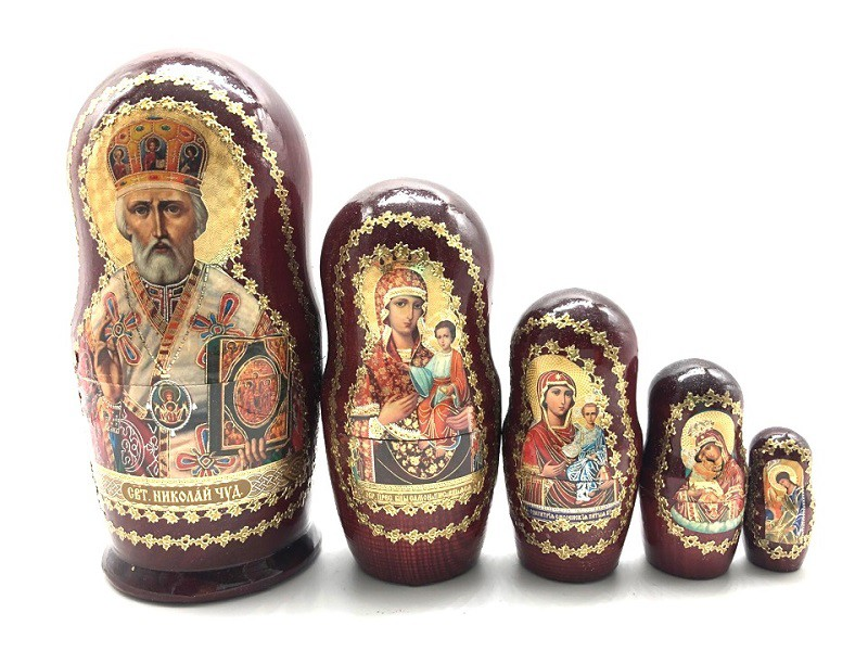 """Матрешка Религия """"Николай Чудотворец"""", 5 мест"""