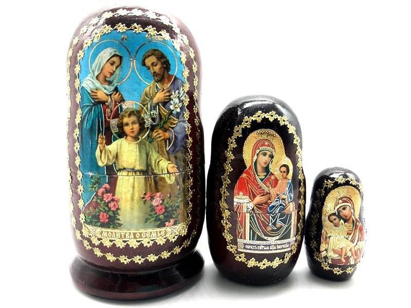 "Матрешка Религия "" Молитва о семье"", 3 места"