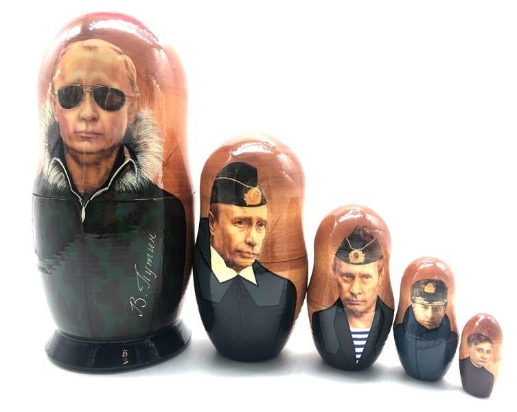 Матрешка  Путин 5 мест