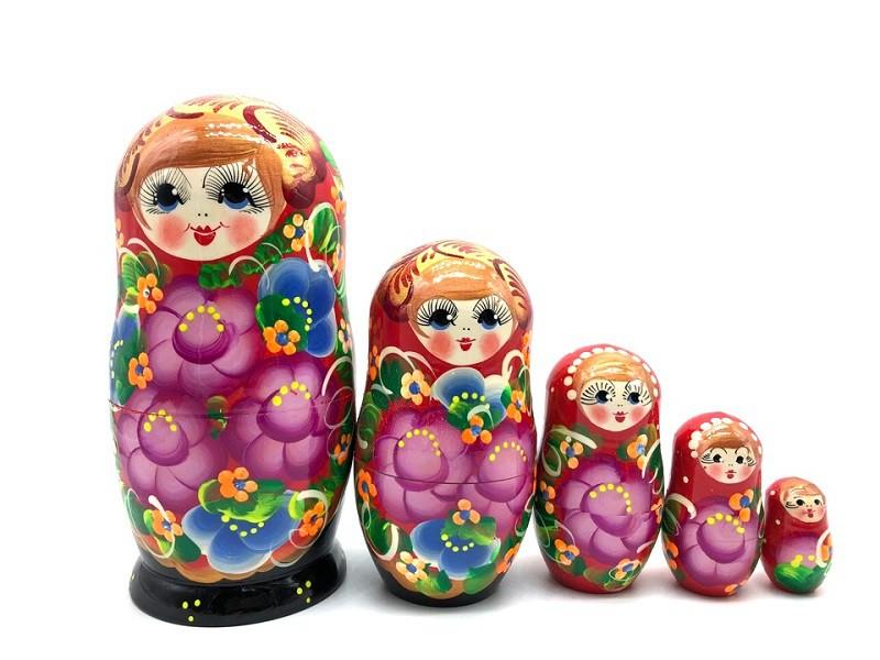 """Матрешка """"Розовые цветы"""", 18 см"""