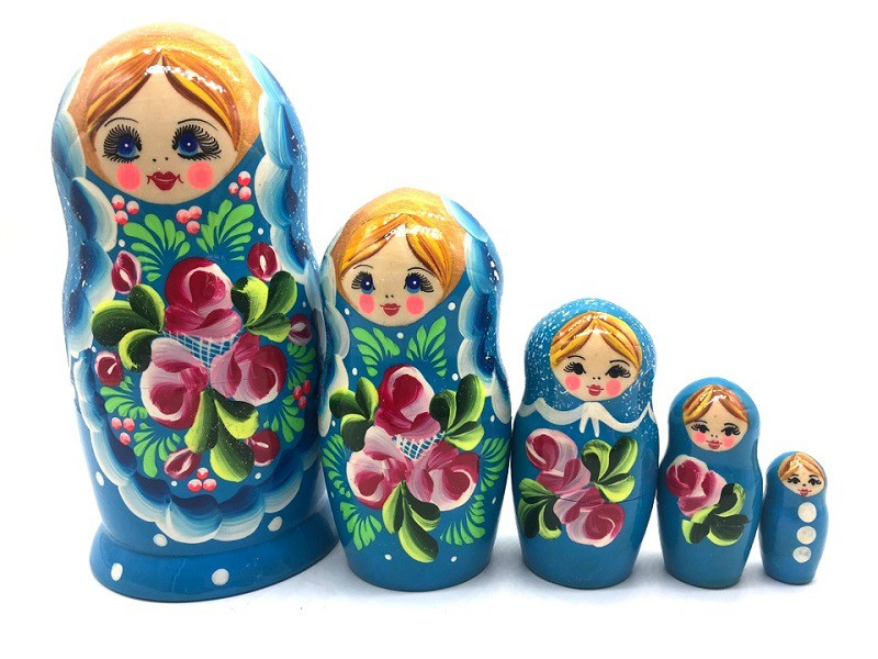 """Матрёшка """"Голубые кружева"""" 5 мест"""