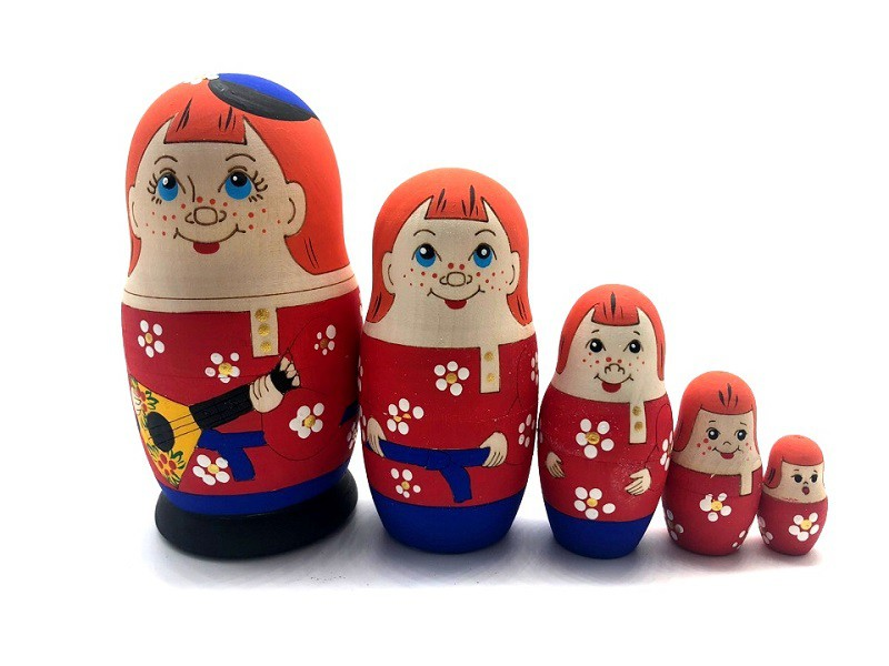 "Матрешка ""Мальчик"", 5 кукол, 10 см"