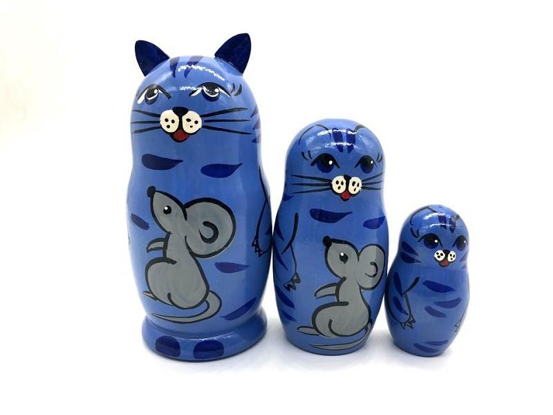 "Матрешка ""Кот синий"", 12 см"