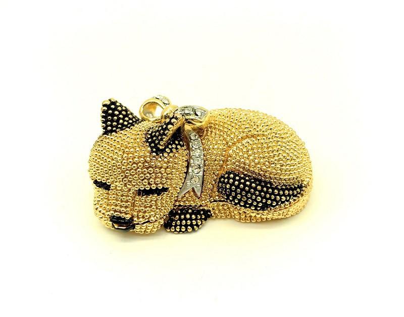 Собака - шкатулка Фаберже, золотая