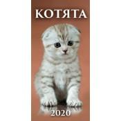 """Календарь настенный """"Котята"""" 2020 г"""