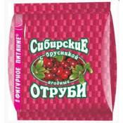 Сибирские отруби с брусникой, 200г