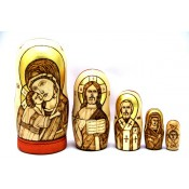 """Матрешка """"Православные святые"""", 5 мест"""
