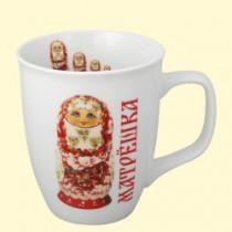 """Чашка """"Матрёшка в красном"""" 0,4л"""