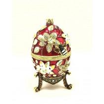 Яйцо шкатулка Фаберже, 15*9 см