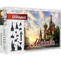 """Фигурный деревянный пазл """"Москва"""", 110 деталей"""