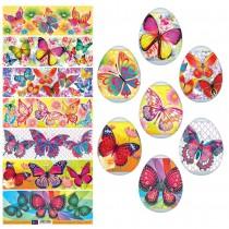 Пасхальные термоусадочные наклейки бабочки