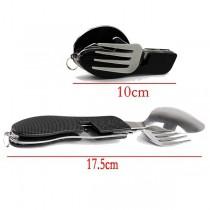 Набор для пикника раскладной( нож, вилка, ложка), черный цвет