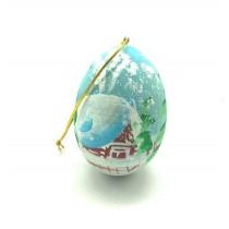 "Яйцо подвесное ""Зимний пейзаж"", акрил"