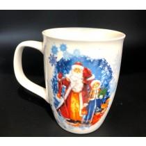 Чашка Дед Мороз и Снегурочка,400мл