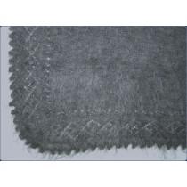 Платок пуховый, серый, размер 95*95 см