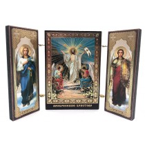 """Икона-складень """"Воскресение Христово, 8*13 см"""