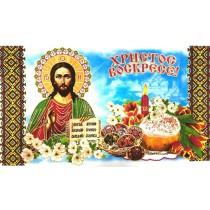 """Декоративная пасхальная салфетка """"Христос"""" 29*60 см"""
