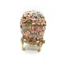 Павлин -шкатулка Фаберже, розовый, 5*14 см.
