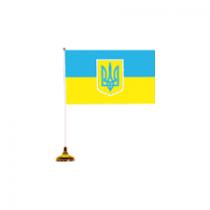 """Настольный флажок """"Украина"""", 10х15 см"""