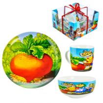 Набор детской посуды Репка, 3 части
