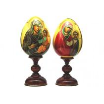 """Яйцо на подставке с иконой """"Казанская"""", ручная роспись"""