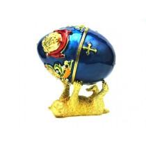 "Яйцо-шкатулка Фаберже ""Медведь"",12 см"