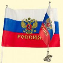 """Флаг """"Россия"""" в автомобиль на присоске"""