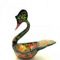 """Лебедь """"Хохлома"""", 17 см"""
