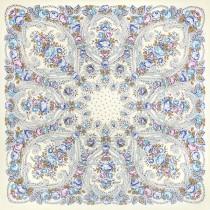 """Платок шерстяной с шелковой бахромой """"Мороз и солнце"""", 148*148 см"""