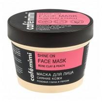 Маска для лица Café Mimi розовая глина и персик, 110мл