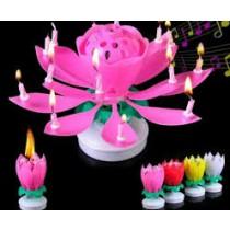"""Музыкальная свеча """"С днем Рождения"""", розовая"""