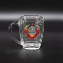 Кружка пивная с гербом СССР, 0,6 л