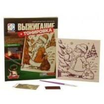 Набор для творчества выжигание+ тонировка Дед Мороз