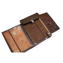 Планшет, сумка полевая офицерская, натуральная кожа, 31x21 см