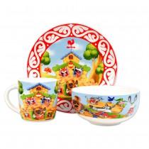 Набор детской посуды Теремок, 3 части