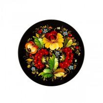 Тарелка деревянная, Петриковская роспись 20-22 см