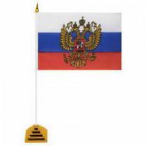 """Настольный флажок """"Россия"""", 10х15 см"""
