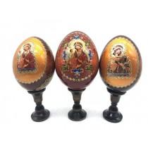 Яйцо на подставке с иконой, 13 см