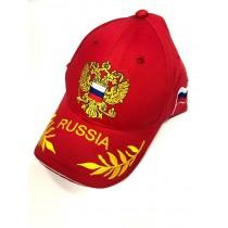 """Бейсболка кепка """"Россия"""" красная"""