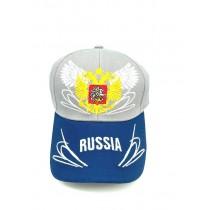 Бейсболка кепка Россия с гербом и крыльями