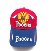 Бейсболка кепка Россия красно-синяя