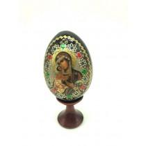 """Яйцо пасхальное деревянное с иконой """"Казанская"""", 10 см"""