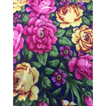 Платок с шелковой бахромой, размер 125*125 см