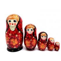 """Матрешка """"Бусы"""", 5 кукол, 18 см"""